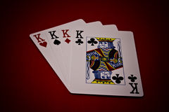 Four of a kings Royalty Free Stock Image