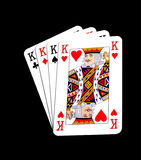 Four kings. Isolated on white background Stock Photo