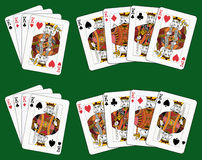 Four Kings. Playing cards: four kings in four different arrangements Royalty Free Stock Photography