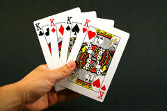 Four kings. Playing cards - four kings Stock Photos