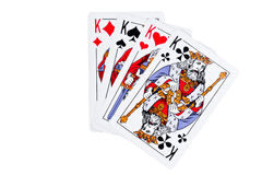Four kings isolated on a white Royalty Free Stock Photos
