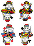 Four Kings no card. Four Kings without cards. Original design Royalty Free Stock Photo
