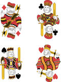 Four Kings no cards Stock Photo