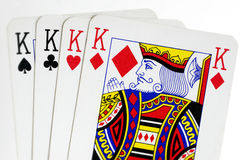 Four kings playing cards Royalty Free Stock Image