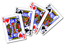 Four Kings. The four kings from a set of playing cards vector illustration