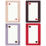 Four knave. Elite playing cards with a blank space in the middle Stock Photography