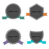 Four labels in retro style Stock Photos