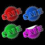Four labels - sale Stock Photo