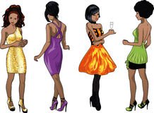 Four Ladies In Cocktail Dresses