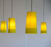 Four Lamps. These lamps are shot in a shopping mall. A warm sense of home Royalty Free Stock Image