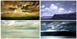 Four landscapes Stock Images
