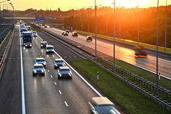 Four lane controlled-access highway in Poland Stock Image