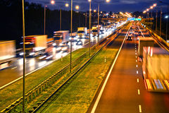 Four lane controlled-access highway in Poland Stock Photography