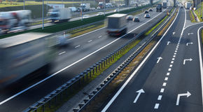 Four lane controlled-access highway in Poland Royalty Free Stock Photography