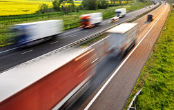 Four lane controlled-access highway in Poland Royalty Free Stock Photos