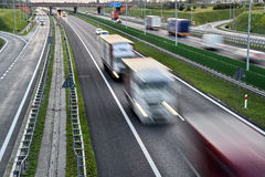 Four lane controlled-access highway in Poland Royalty Free Stock Photo