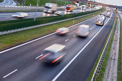 Four lane controlled-access highway in Poland Royalty Free Stock Image