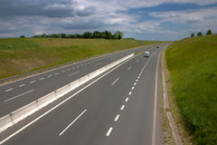 Four lane highway Royalty Free Stock Photos