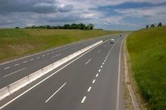 Four lane highway. In european countrside royalty free stock photos