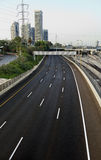 Empty Four Lane Highway Stock Image