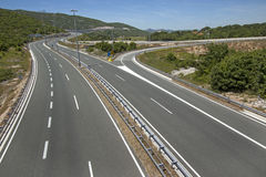 Four lane road Stock Photography