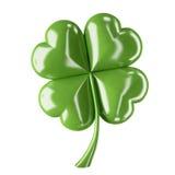 Four leaf clover. 3d shiny leaf clover for your St.Patrick's Day design Stock Image