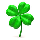 Four leaf clover. Isolated on white background Royalty Free Stock Photos