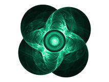 Four Leaf Clover. Fractal rendering of a four leaf clover Stock Photography