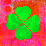 Four Leaf Clover. Abstract illustration of a four leaf clover aka Shamrock with a spiral path. Follow a lucky path Royalty Free Stock Images