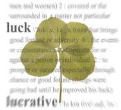 Four Leaf Clover. A photo of a four leaf clover with a luck theme royalty free stock photos