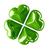 Four leaf clover. 3d shiny leaf clover for your St.Patrick's Day design Royalty Free Stock Images