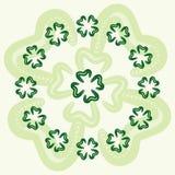 Four-leaf clover. Four leaf clover background illustration Royalty Free Stock Image