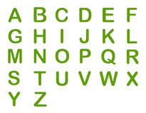 Four Leaf Clover of Alphabet Letter A-Z Stock Photo
