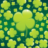 Four Leaf Clover Background EPS. An illustrated lucky four leaf clover background. Please not this is not a seamless pattern. Available in vector EPS format Royalty Free Stock Images