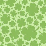 Four leaf clover background. Saint Patrick's day design - Four leaf clover seamless pattern Royalty Free Stock Photos
