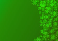 Four leaf clover bokeh effect. On green background,Clover wallpaper Royalty Free Stock Image