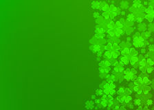 Four leaf clover bokeh effect. On green background,Clover wallpaper Stock Photo