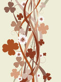 Four leaf clover card Stock Image