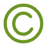 A Four Leaf Clover of Copyright Sign Stock Photography