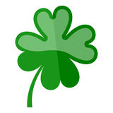 Four Leaf Clover Flat Icon Isolated on White Royalty Free Stock Photo