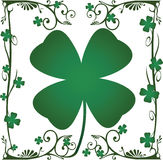 Four Leaf Clover Foral. Four leaf clover floral design element Stock Image