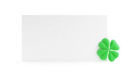 Four Leaf Clover form St. Patrick's day Stock Photos