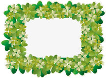 Four leaf clover for frame or border. Four leaf clover for lucky frame or border royalty free illustration