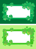 Four leaf clover frames Stock Image