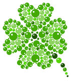 Four-leaf clover from green bubbles. Illustration of Four-leaf clover from green bubbles Stock Image
