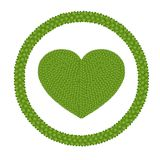 A Four Leaf Clover of Heart Shape in Circle Frame Royalty Free Stock Images