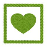 Four Leaf Clover of Heart Shape Icon in A Frame Stock Photo