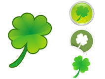 Four Leaf Clover icon Royalty Free Stock Images