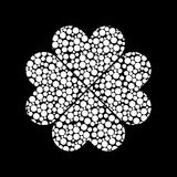 Four leaf clover icon on dark background. Simple vector icon Royalty Free Stock Photography