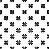 Four leaf clover leaf pattern, simple style Royalty Free Stock Photography